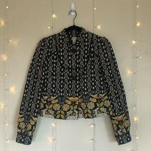 Floral Quilted Elevenses Anthropologie Jacket